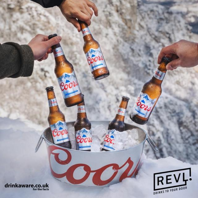 Want Coors delivering straight to your door? Head over to @revldrinks where you can order Coors ahead of Coors x @mixmag The Lab: Ten Years Party this Friday starting at 5pm!   #Coors #CoorsFresh  #10YearsLab  Brewed in the UK.