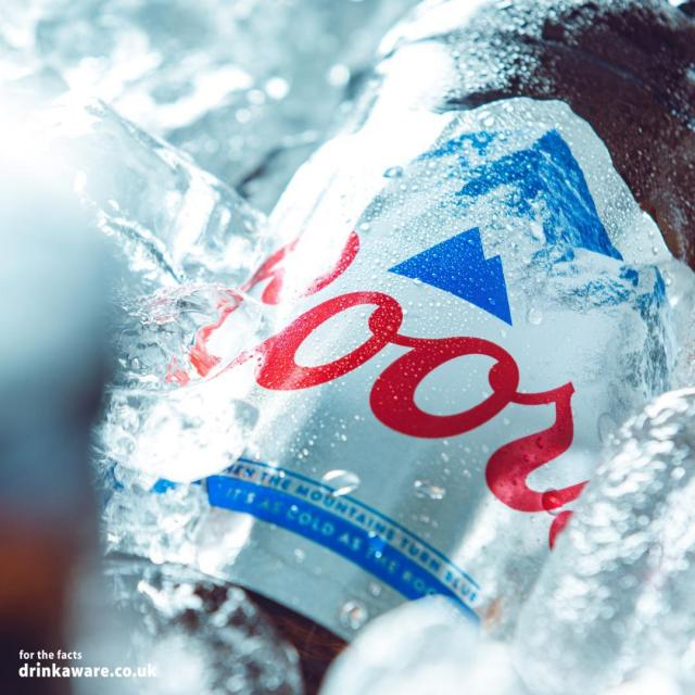 Ice cold refreshment, when the mountains turn blue ❄   #Coors #CoorsFresh   Brewed in the UK.