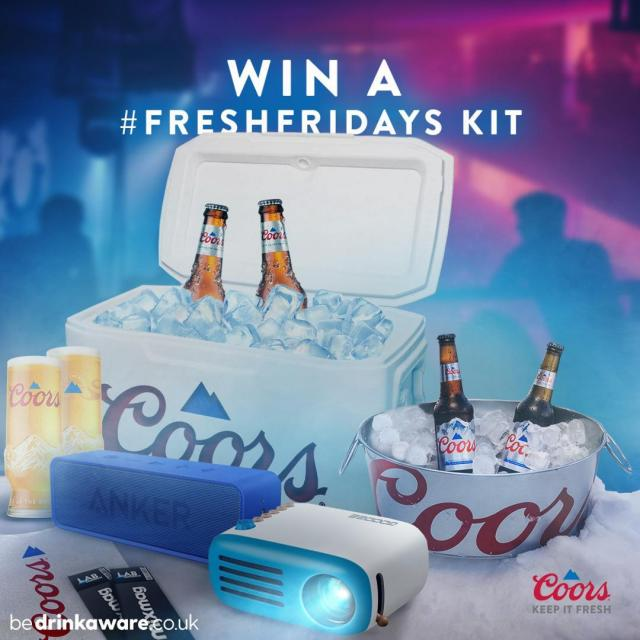#FreshFridays is back!  WIN one of our #FreshFridays kits in time for the next @Mixmag Lab LDN with Dance System Next Friday at 6pm!  To enter, just like this post and tell us who your favourite DJ is!   #Coors #CoorsFresh   Terms and Conditions: 18+, GB only. Opens Friday 10th September & closes Tuesday 14th September at 12pm, 1 entry per persons, Facebook / Instagram account. Prize: 1 x Fresh Friday Kit (4 x 330ml bottles of Coors, 2 x tickets to a mixmag LAB in London, cooler, mini disco light, bluetooth speaker, portable projector takeaway vouchers, branded stickers). 1 prize to be won, 1 prize per winner. Full T&Cs apply, see our website:  https://bit.ly/3jXxWNU (Link in our bio)