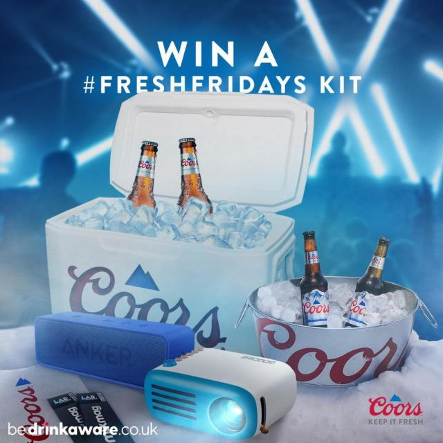 It's a #FreshFriday!  WIN one of our #FreshFridays kits in time for the next @Mixmag Lab LDN with Manda Moor Next Friday at 6pm!  To enter, just like this post and tell us what your favourite rave tune is!    #Coors #CoorsFresh   Terms and Conditions: 18+, GB only. Opens Friday 24th September & closes Tuesday 28th September at 12pm, 1 entry per persons, Facebook / Instagram account. Prize: 1 x Fresh Friday Kit (4 x 330ml bottles of Coors, 2 x tickets to a mixmag LAB in London, cooler, mini disco light, bluetooth speaker, portable projector takeaway vouchers, branded stickers). 1 prize to be won, 1 prize per winner. Full T&Cs apply, see our website:  linktr.ee/CoorsBeer